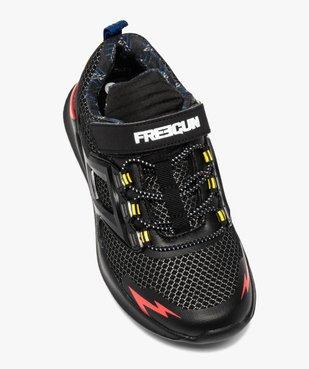 Baskets garçon dessus mesh et détails colorés - Freegun vue5 - FREEGUN - GEMO