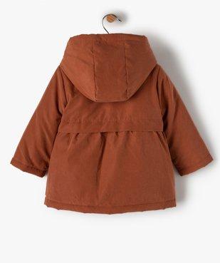 Manteau bébé fille à capuche 3 en 1 vue5 - GEMO(BEBE DEBT) - GEMO
