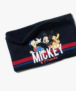 Ensemble bébé garçon (3 pièces) : bonnet + snood + gants - Mickey vue2 - MICKEY - GEMO