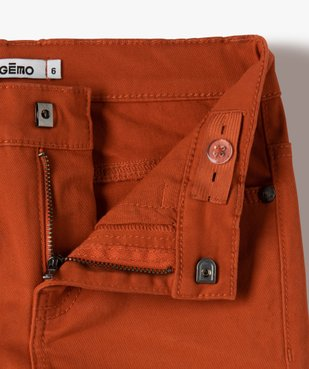 Pantalon garçon coupe skinny en toile extensible vue3 - GEMO (ENFANT) - GEMO