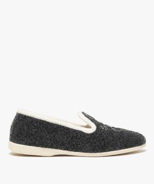 Chaussons femme style slippers en feutrine brodée vue1 - GEMO(HOMWR FEM) - GEMO