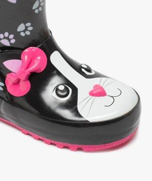 Bottes de pluie fille motif chat en relief avec anses vue6 - GEMO (ENFANT) - GEMO