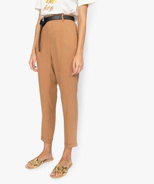 Pantalon femme fluide avec taille élastiquée vue1 - GEMO(FEMME PAP) - GEMO