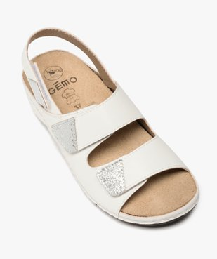 Sandale femme confort à larges brides scratch vue5 - GEMO (CONFORT) - GEMO