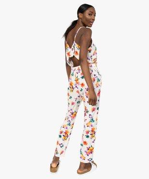 Combinaison pantalon femme à motifs fleuris vue3 - GEMO(FEMME PAP) - GEMO