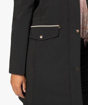 Manteau femme à capuche fantaisie et touches métalliques  vue6 - GEMO (G TAILLE) - GEMO