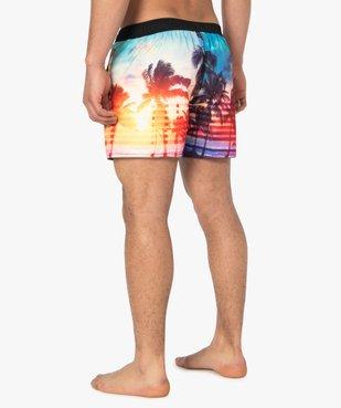 Short de bain homme motif palmiers - Freegun vue3 - FREEGUN - GEMO
