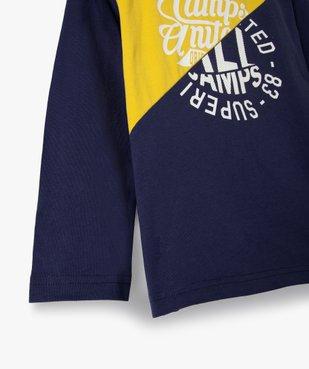Tee-shirt garçon multicolores à manches longues - Camps vue2 - CAMPS UNITED - GEMO