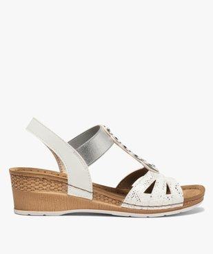 Sandales femme à enfiler avec talon compensé vue1 - GEMO(URBAIN) - GEMO