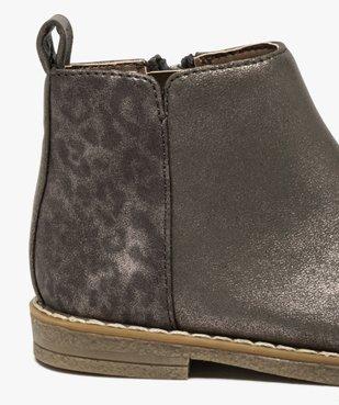 Boots bébé fille métallisées et imprimées léopard vue6 - GEMO(BEBE DEBT) - GEMO