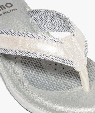 Tongs femme à semelle rembourrée et détails métallisés vue6 - Nikesneakers (PLAGE) - Nikesneakers