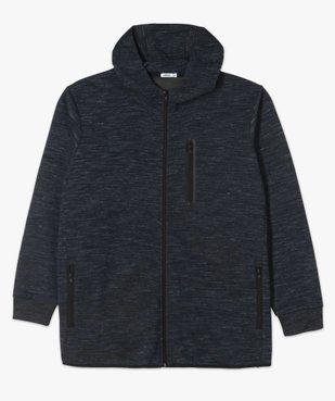 Sweat homme zippé à capuche et poches zippées vue4 - GEMO (G TAILLE) - GEMO