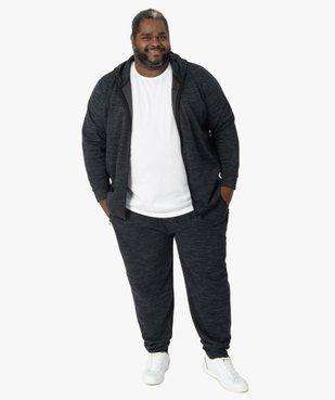 Sweat homme zippé à capuche et poches zippées vue5 - GEMO (G TAILLE) - GEMO