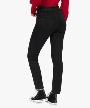 Jean femme slim à taille haute denim noir - L30 vue3 - GEMO(FEMME PAP) - GEMO
