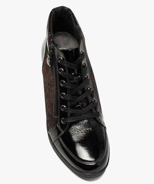 Boots femme confort zippées à talon compensé  vue5 - GEMO (CASUAL) - GEMO