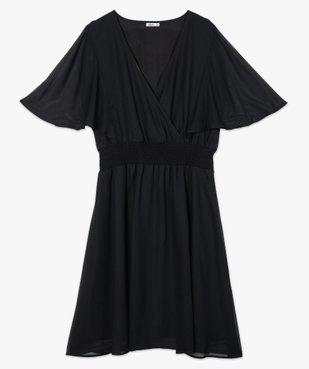 Robe femme en voile à taille smockée et motif fleuri vue4 - GEMO (G TAILLE) - GEMO