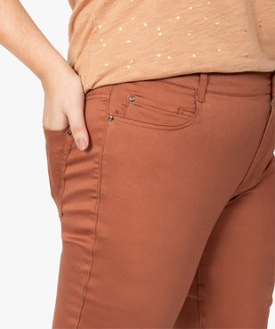 Pantalon femme coupe slim en maille extensible vue2 - GEMO (G TAILLE) - GEMO