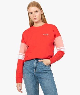 Sweat femme avec manches tricolores - Diadora vue1 - DIADORA - GEMO