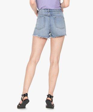 Short femme en jean aspect usé – Lulu Castagnette vue3 - LULUCASTAGNETTE - GEMO