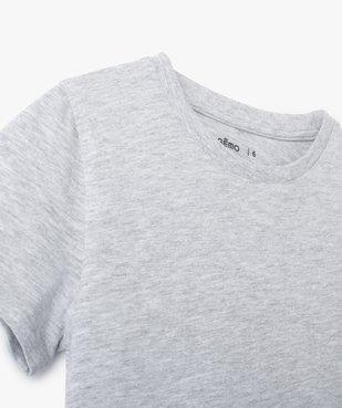 Tee-shirt garçon uni à manches courtes vue2 - GEMO C4G GARCON - GEMO