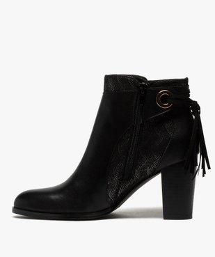 Boots femme à talon avec laçage fantaisie sur le contrefort vue3 - GEMO(URBAIN) - GEMO