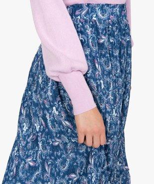 Jupe femme longue plissée à motifs vue2 - GEMO(FEMME PAP) - GEMO