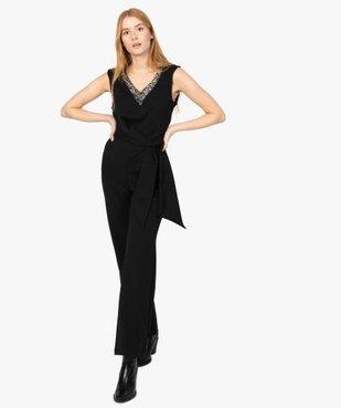 Combinaison pantalon femme avec décolleté en strass vue1 - Nikesneakers(FEMME PAP) - Nikesneakers