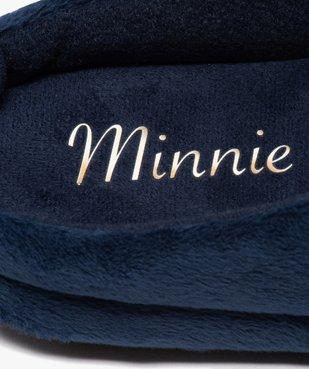 Chaussons femme mules plates en velours ras - Minnie vue6 - MINNIE - GEMO
