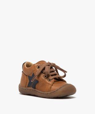 Chaussures premiers pas à lacets bébé garçon - Bopy vue2 - BOPY - GEMO