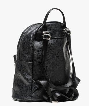 Petit sac à dos grainé avec pompon vue2 - GEMO (ACCESS) - GEMO