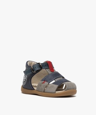 Sandales premiers pas bébé garçon en cuir vue2 - GEMO(BEBE DEBT) - GEMO