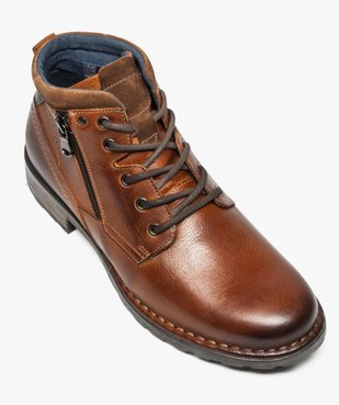 Boots homme style workwear vue5 - GEMO (CASUAL) - GEMO