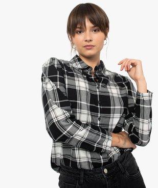 Chemise femme à carreaux 100% coton vue2 - GEMO(FEMME PAP) - GEMO