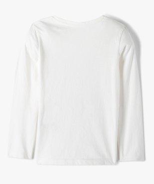 Tee-shirt fille à manches longues avec sequins réversibles vue3 - GEMO C4G FILLE - GEMO