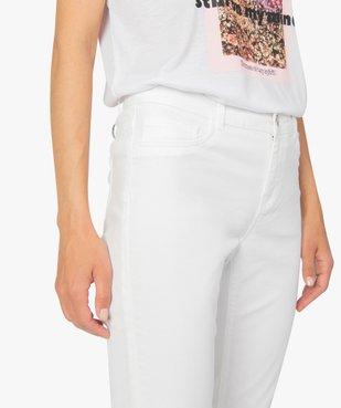 Pantalon femme en toile coupe slim 5 poches vue2 - GEMO (JEAN) - GEMO