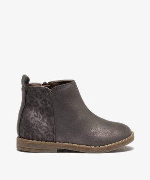 Boots fille à talon plat et reflets métallisés vue1 - GEMO (ENFANT) - GEMO