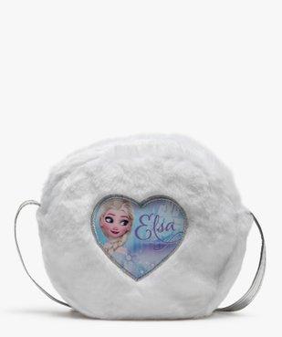 Sac fille rond zippé en peluche – Elsa Reine des Neiges vue1 - REINE DES NEIGE - GEMO