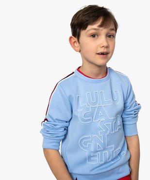 Sweat garçon avec inscription en relief – Lulu Castagnette vue1 - LULUCASTAGNETTE - GEMO