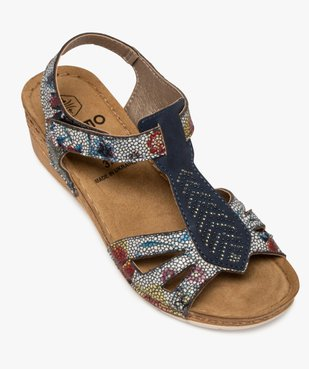 Sandales femme à talon compensé fermeture scratch vue5 - GEMO(URBAIN) - GEMO