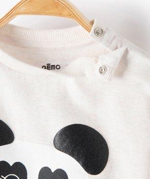 Sweat bébé fille avec motif animal sur l'avant vue2 - GEMO C4G BEBE - GEMO