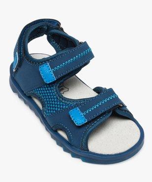 Sandales garçon à scratchs et semelle intérieure cuir vue5 - Nikesneakers (ENFANT) - Nikesneakers