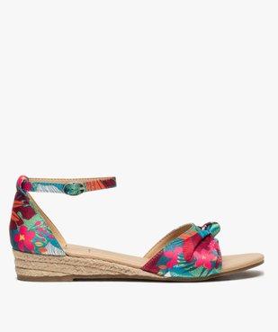 Sandales femme à petit talon compensé et dessus drapé vue1 - Nikesneakers (CASUAL) - Nikesneakers
