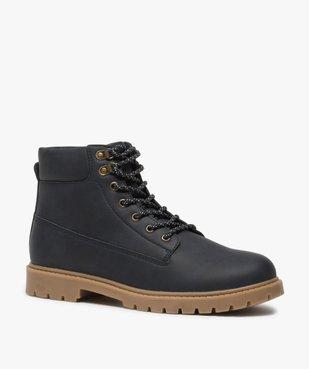 Boots homme à semelle crantée et lacets - Les Supaires à semelle contrastante et lacets bicolores vue2 - GEMO (CASUAL) - GEMO