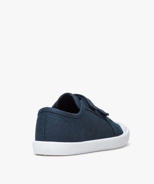 Chaussures basses garçon en toile unie fermeture scratch vue4 - GEMO (ENFANT) - GEMO