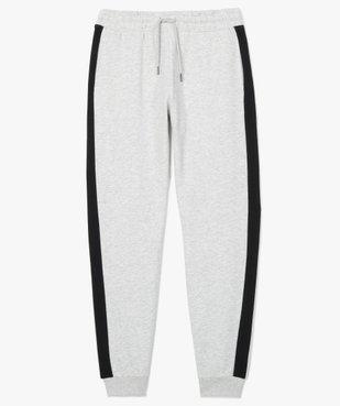 Pantalon de jogging homme avec bandes sur les côtés  vue4 - GEMO C4G HOMME - GEMO