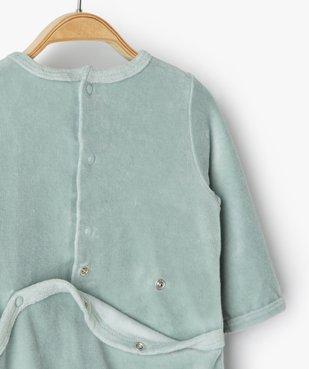 Pyjama bébé fille en velours avec motif nounours vue3 - Nikesneakers(BB COUCHE) - Nikesneakers