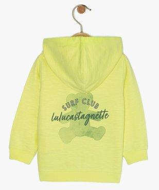 Sweat bébé garçon zippé à capuche - Lulu Castagnette vue2 - LULUCASTAGNETTE - GEMO