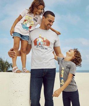 Tee-shirt garçon avec motif coloré famille Simpsons vue3 - SIMPSONS - GEMO