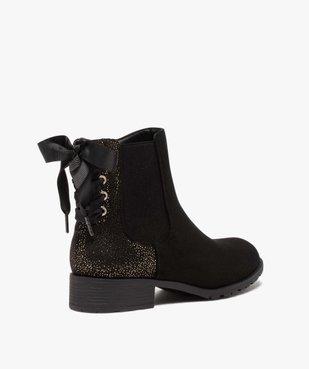 Boots femme chelsea zippées avec ruban sur le contrefort vue4 - GEMO (CASUAL) - GEMO