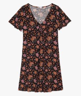 Robe de grossesse fleurie à manches courtes et larges vue4 - GEMO (MATER) - GEMO